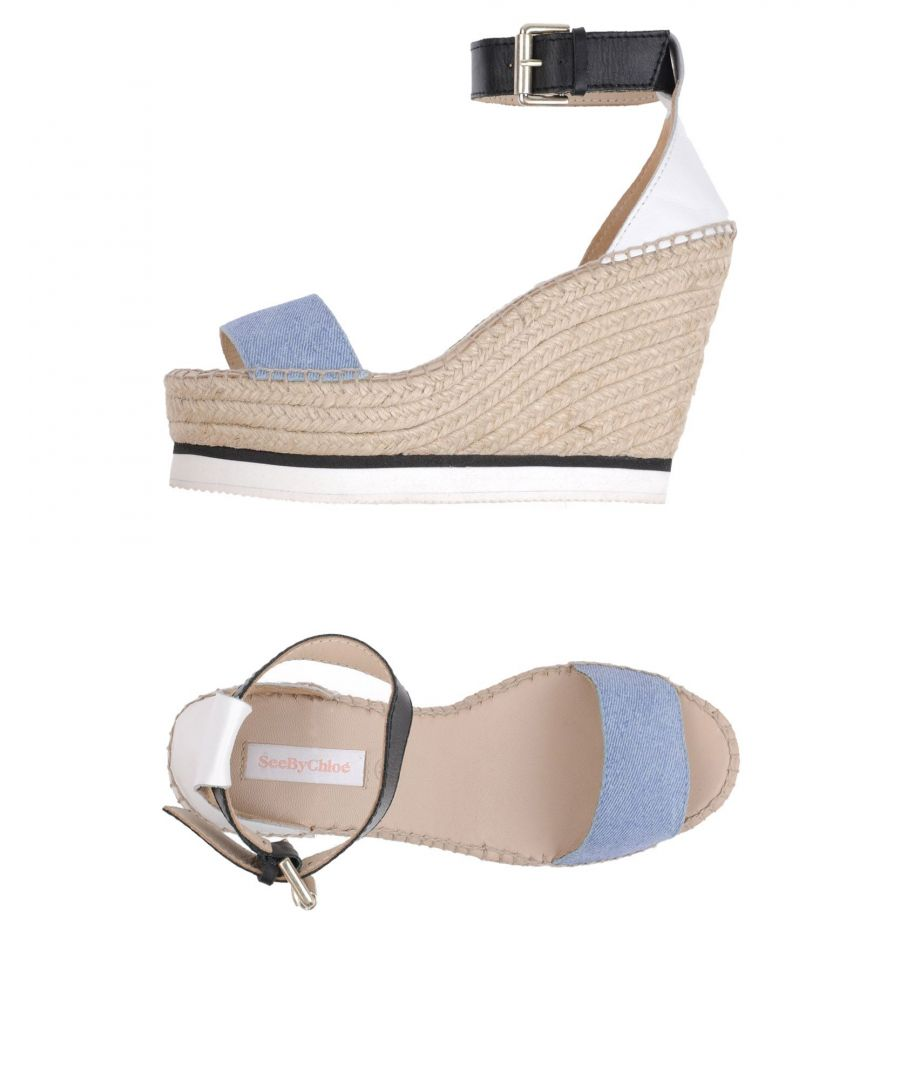 Image for See By Chloe Azure Leather Espadrilles