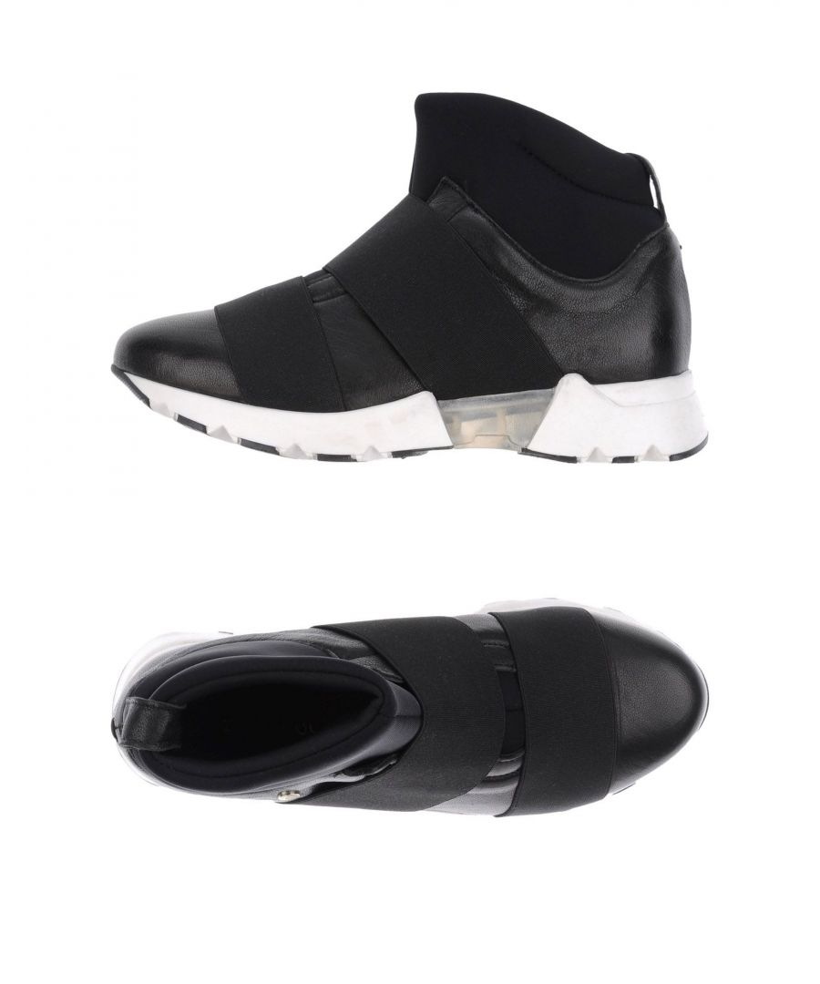 Image for Manila Grace Woman High-tops & sneakers Black Leather