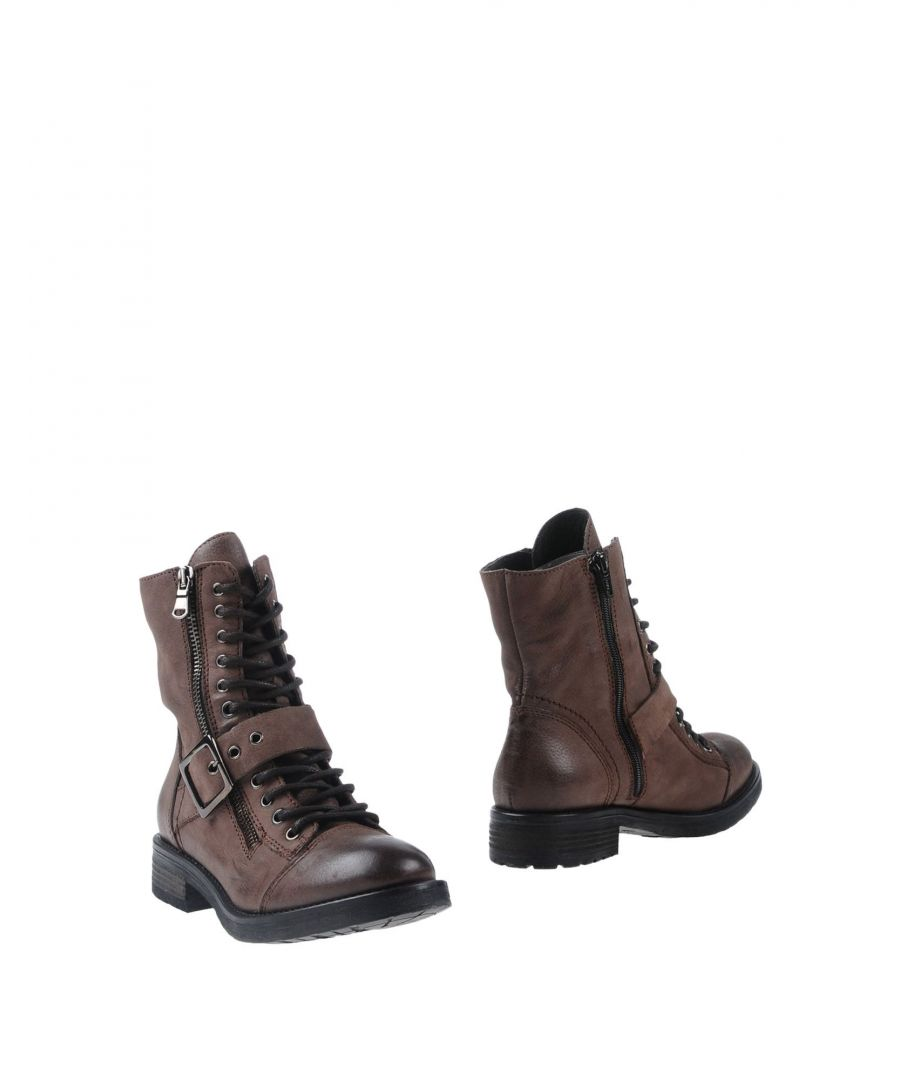Image for Mally Dark Brown Leather Lace Up Boots