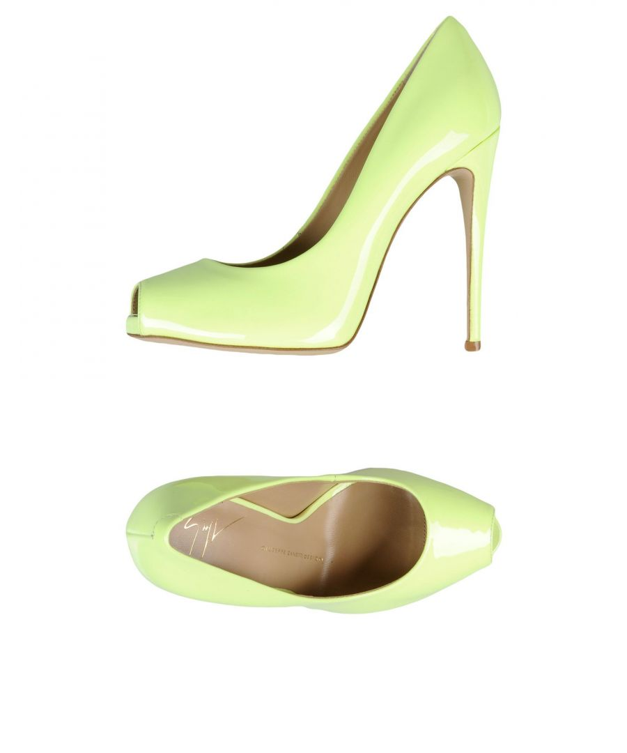 Image for Giuseppe Zanotti Light Green Leather Peeptoe Heels