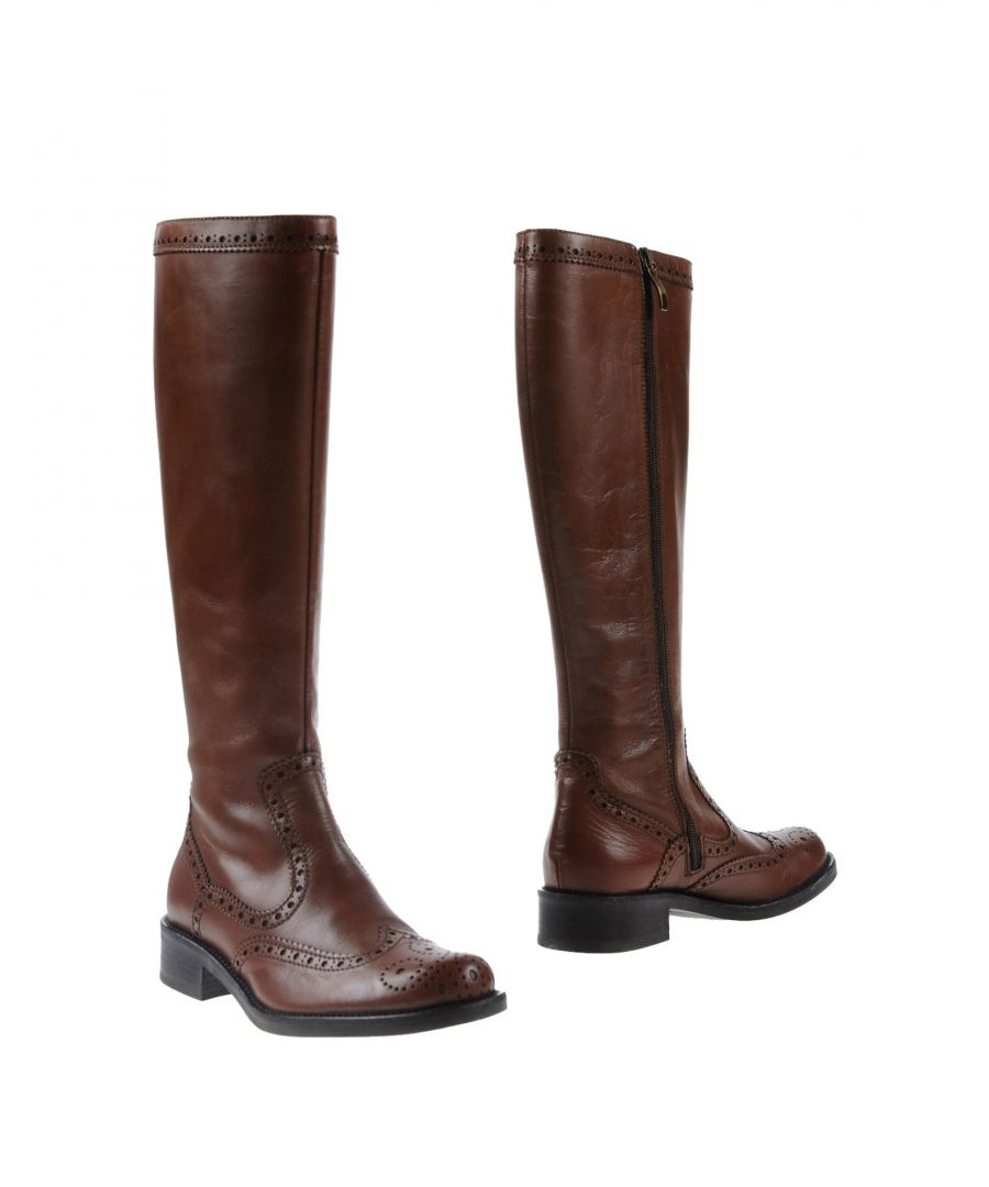 Image for Mally Brown Leather Boots