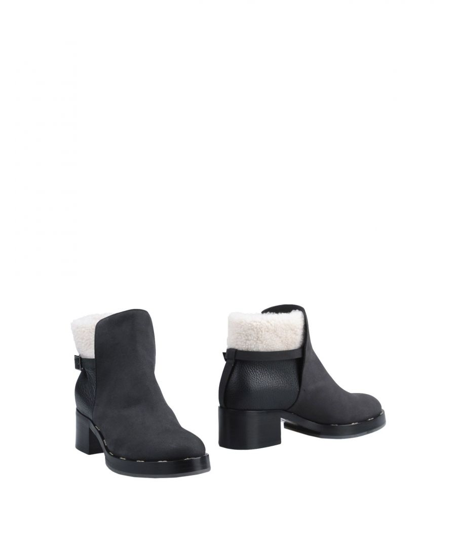 Image for Pollini Black Leather Ankle Boots
