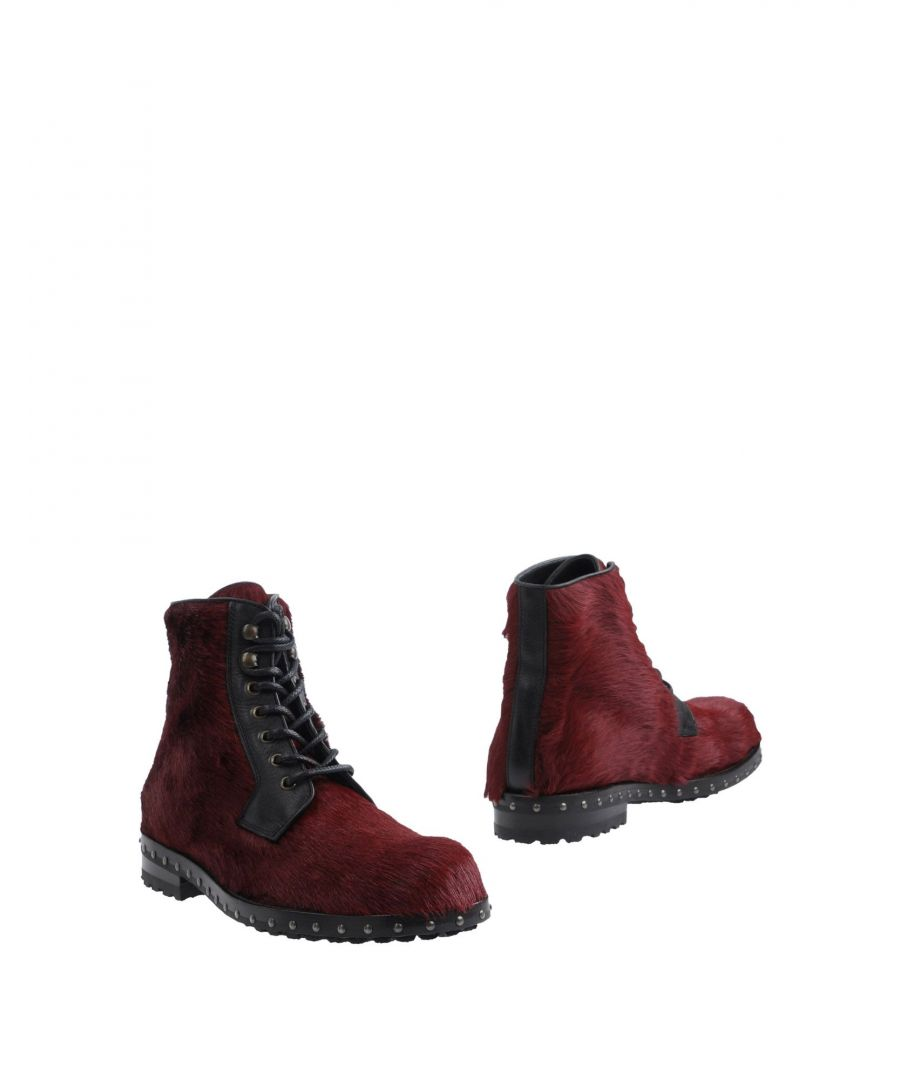 Image for Dolce & Gabbana Maroon Calf Ankle Boots