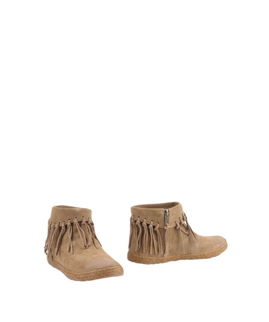 Image for Ugg Australia Khaki Leather Ankle Boots