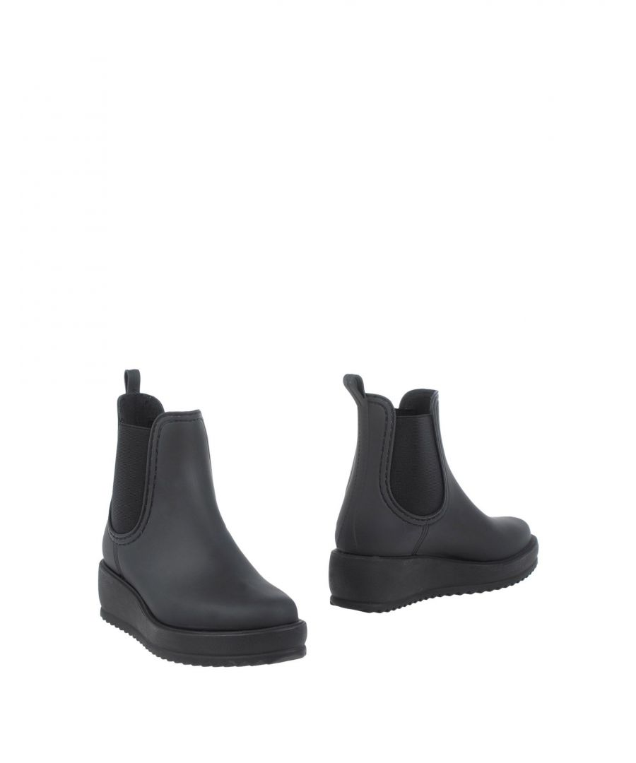 Image for Jeffrey Campbell Black Faux Leather Ankle Boots