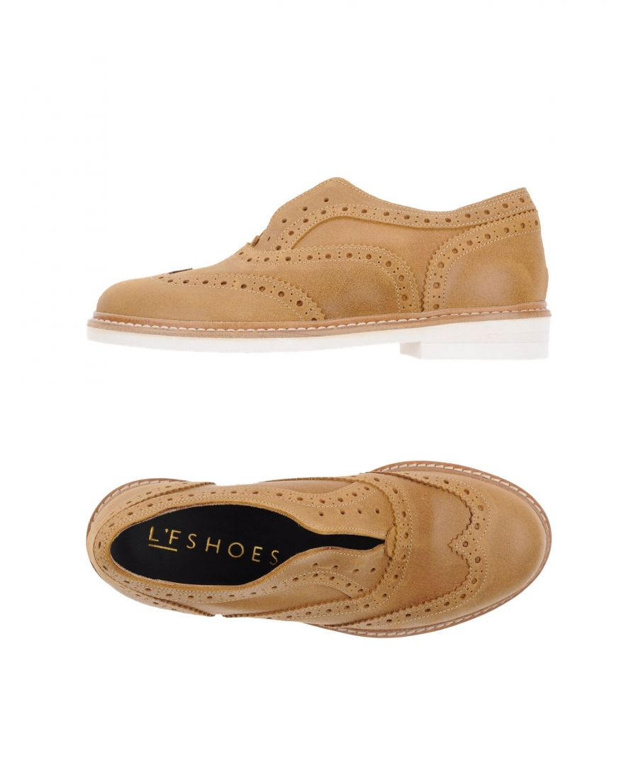 Image for L'F Shoes Camel Leather Brogues