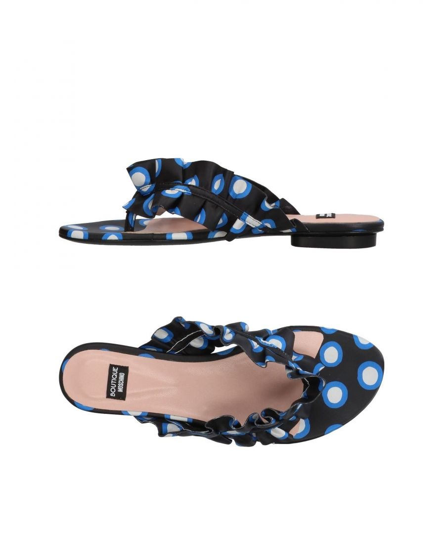 Image for Boutique Moschino Black Print Leather Sandals