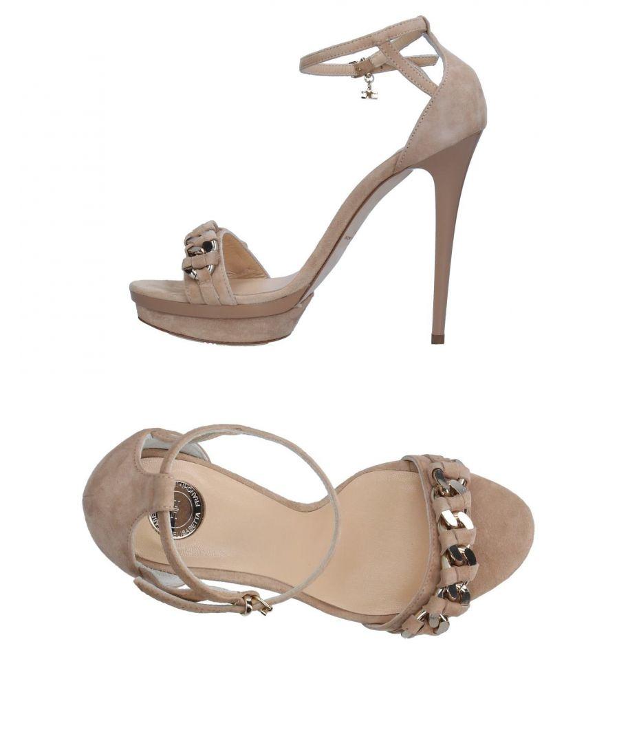 Image for Elisabetta Franchi Gold Beige Leather Heeled Sandals