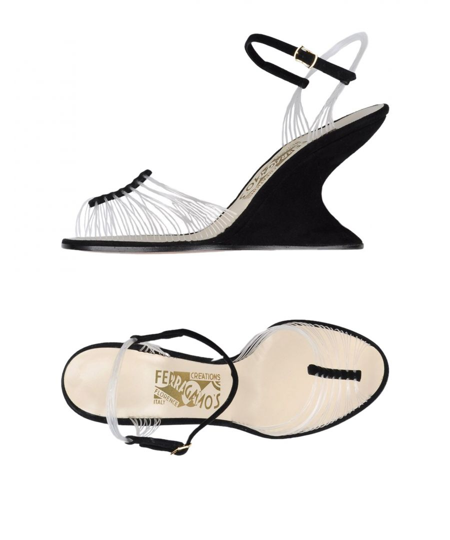 Image for Ferragamo's Creations Transparent Strap Wedge Sandals