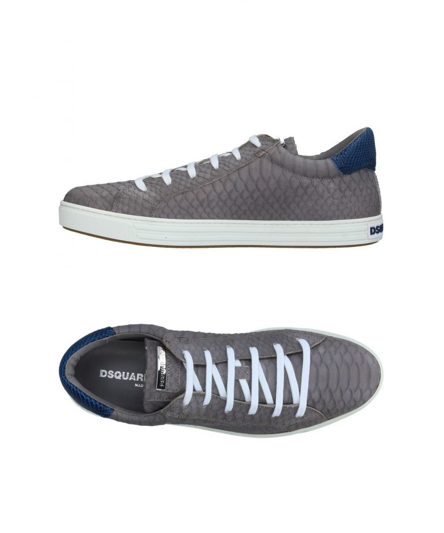 Image for Dsquared2 Grey Leather Sneakers