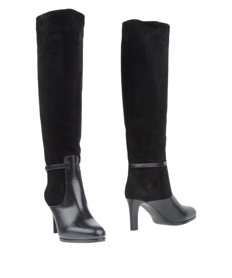 Image for Veronique Branquinho Black Leather Knee High Boots