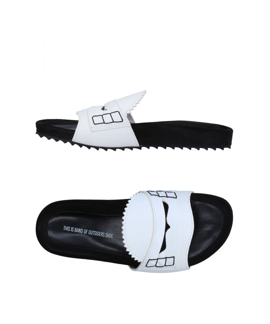 Image for Band Of Outsiders White Leather Sliders