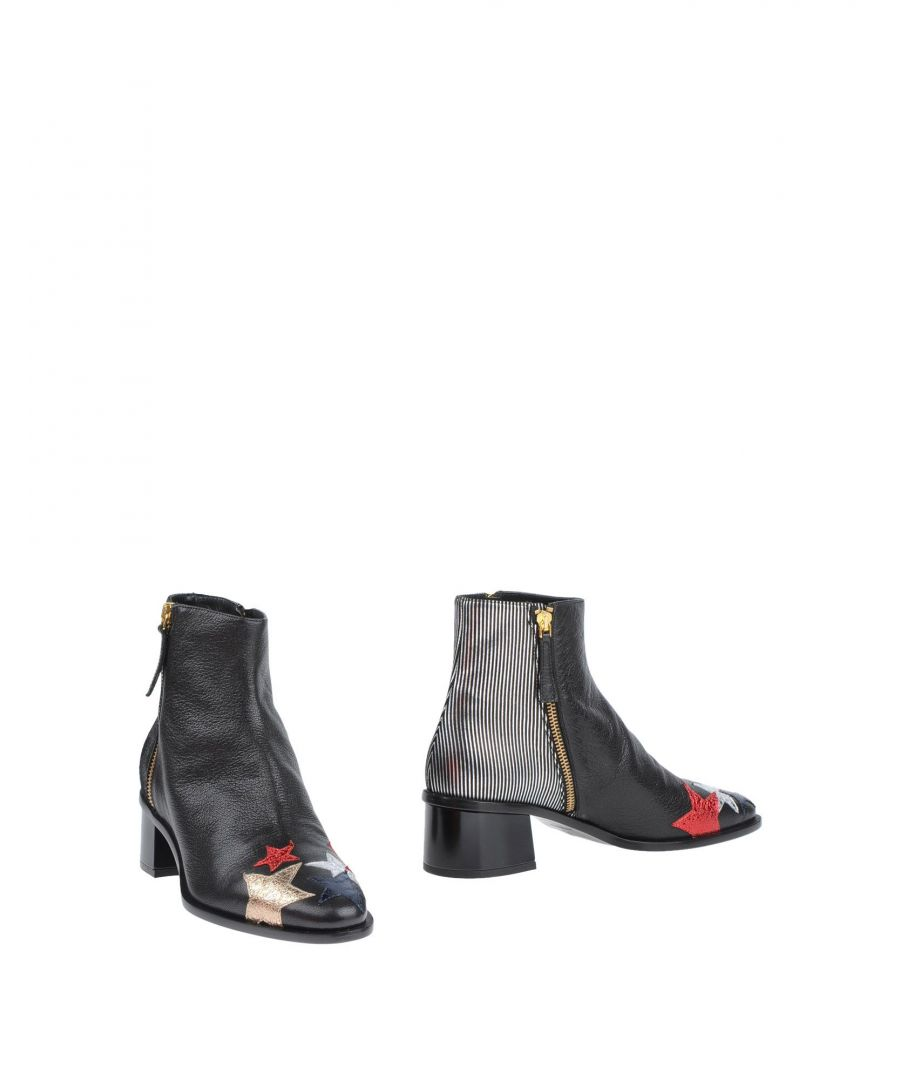 Image for Hilfiger Collection Black Leather Ankle Boots