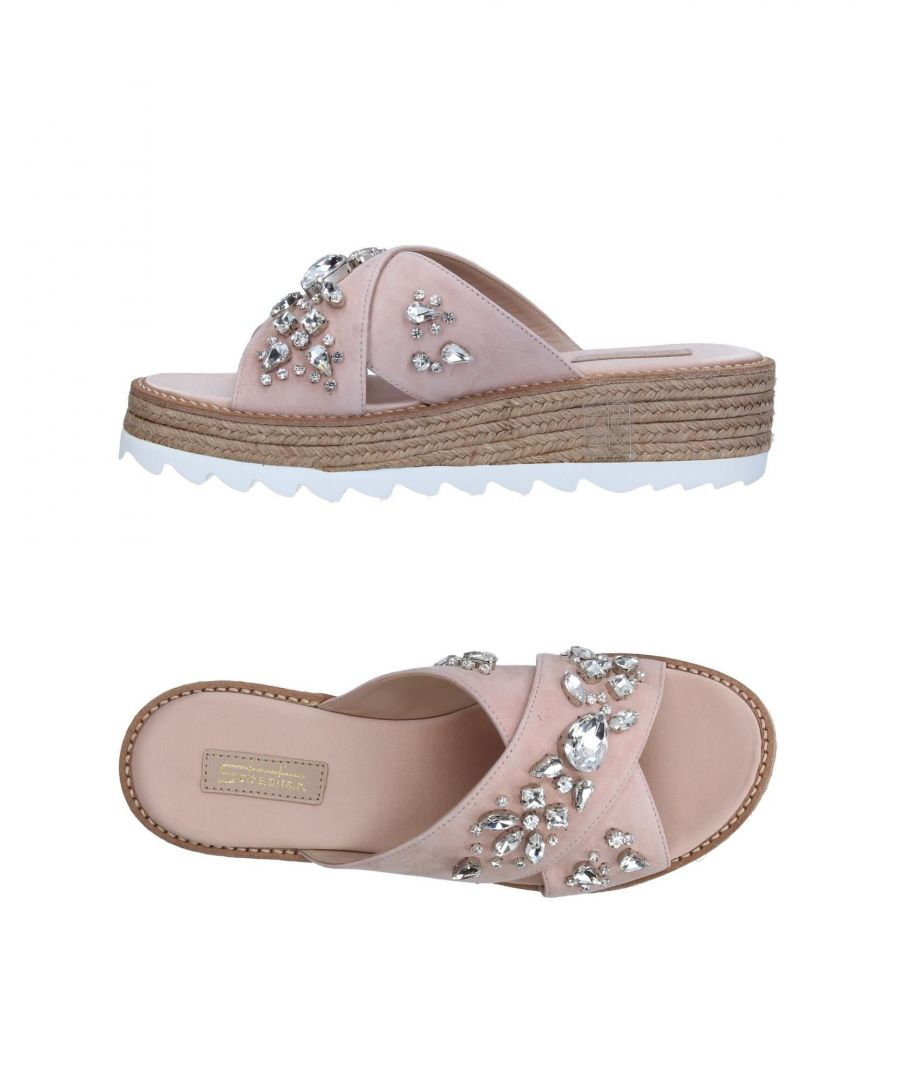 Image for Sebastian Light Pink Embellished Leather Sandals