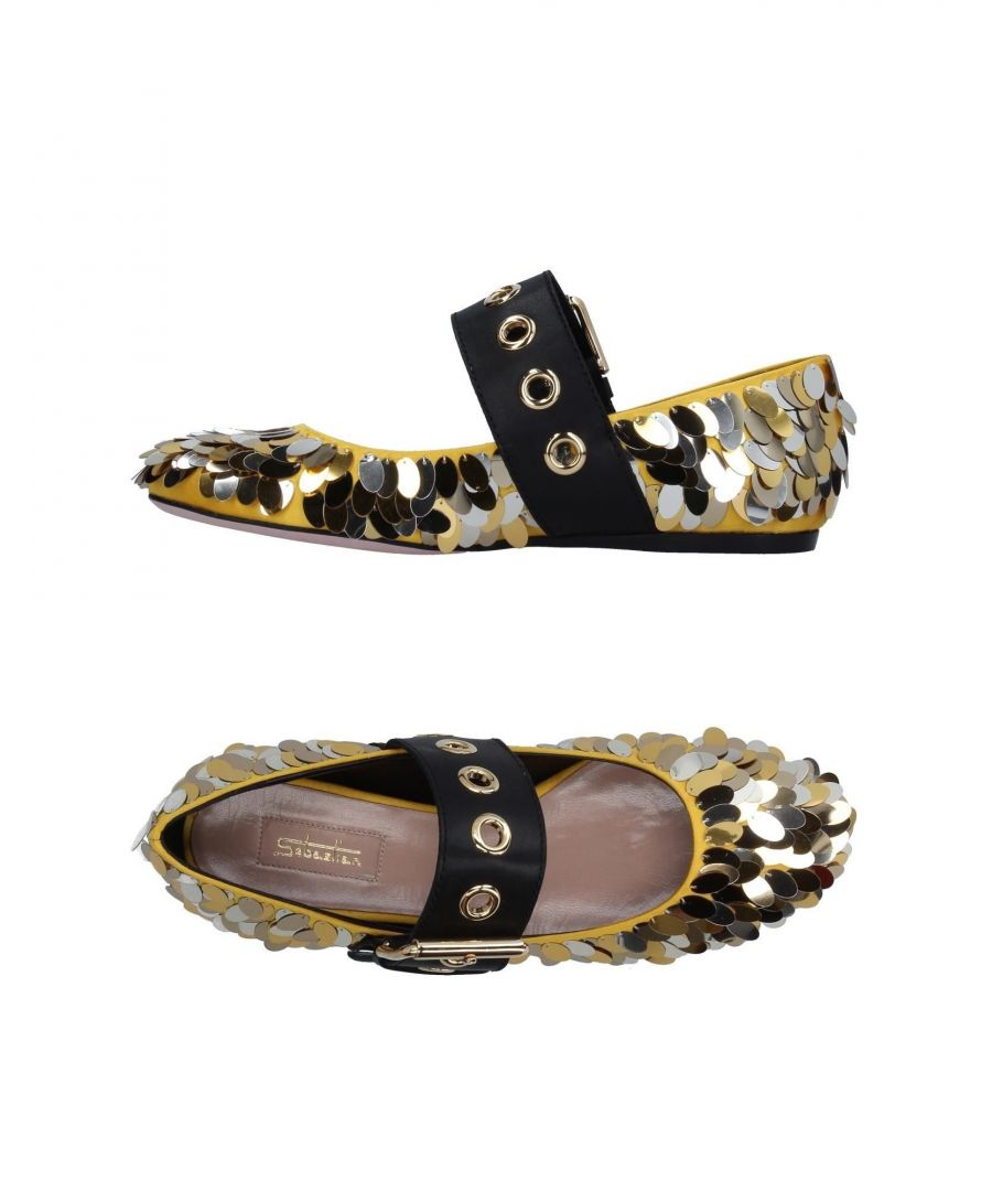 Image for Sebastian Yellow Sequin Ballet Flats