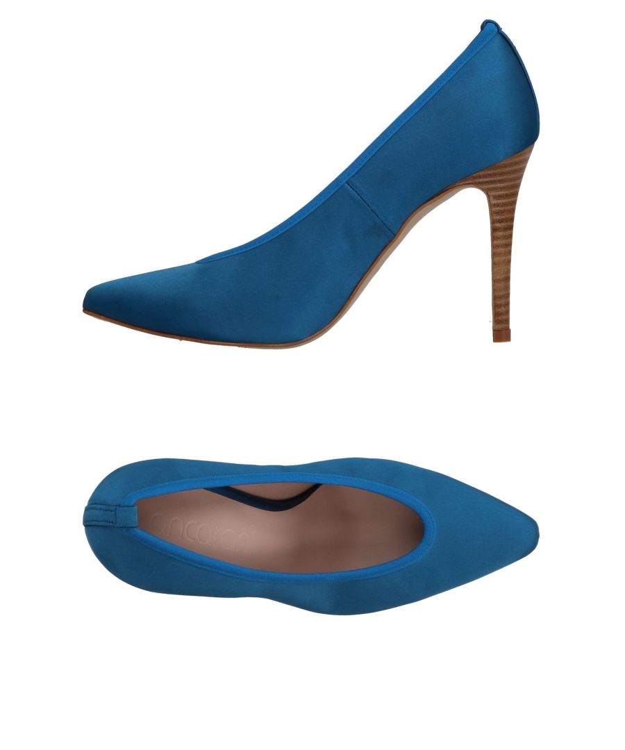 Image for Ancarani Pastel Blue Satin Heels