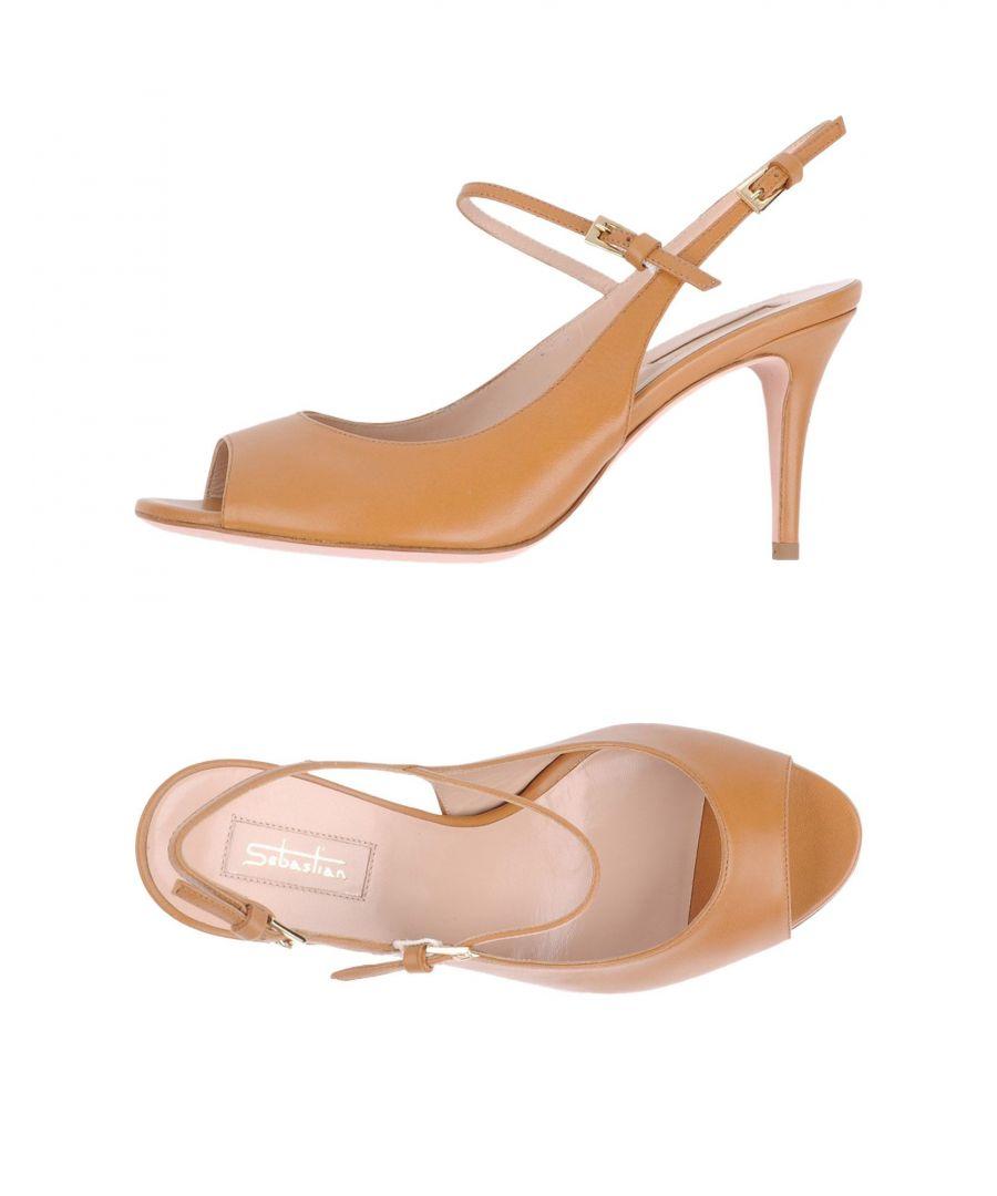 Image for Sebastian Camel Leather Slingback Heels