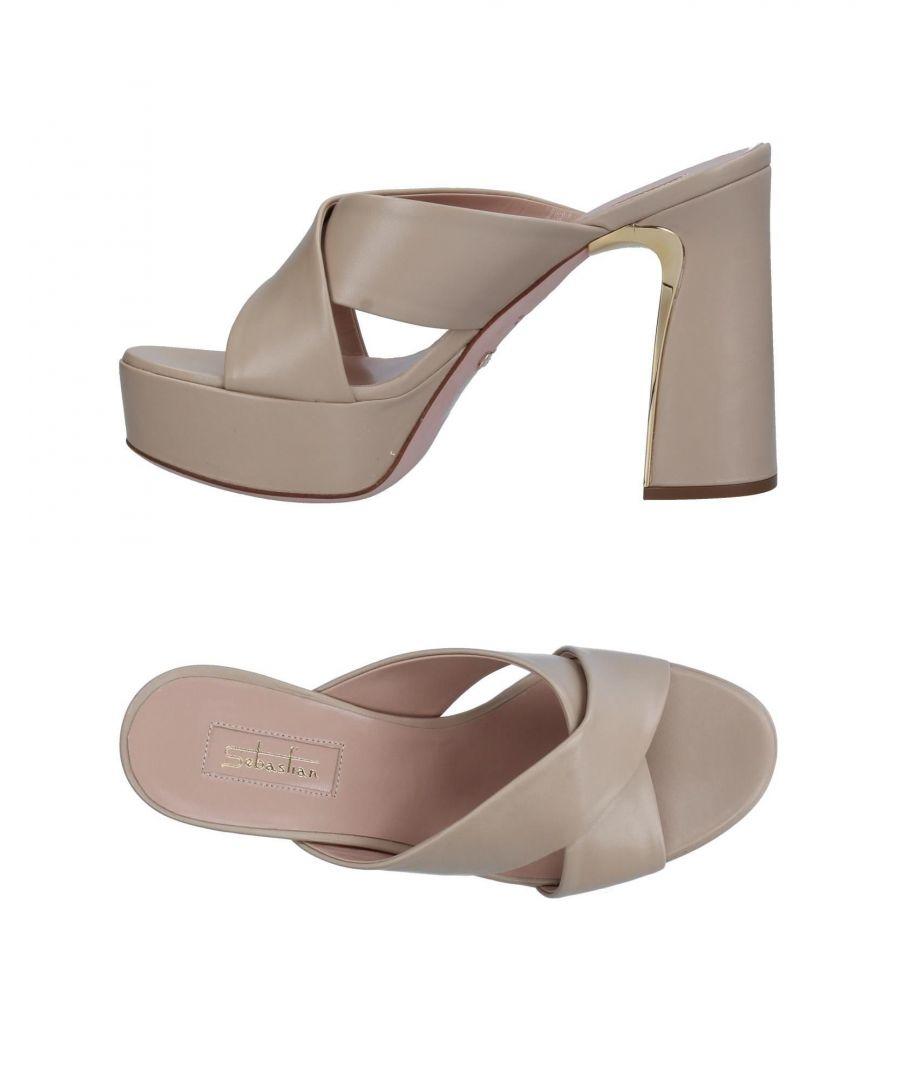 Image for Sebastian Beige Leather Heeled Sandals