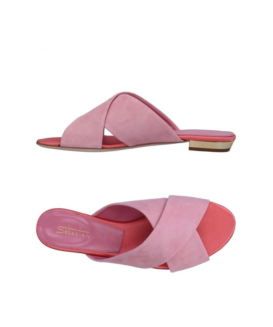 Image for Sebastian Pink Leather Sandals