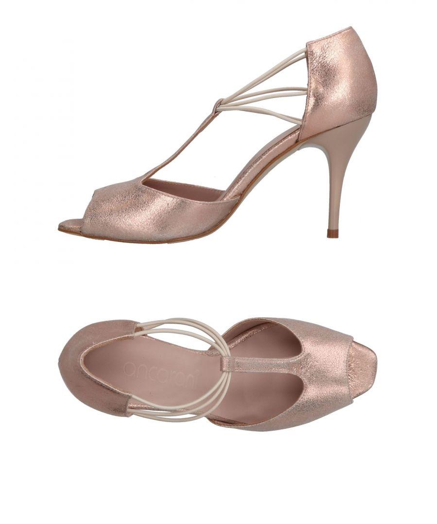 Image for Ancarani Pink Leather Peeptoe Heels