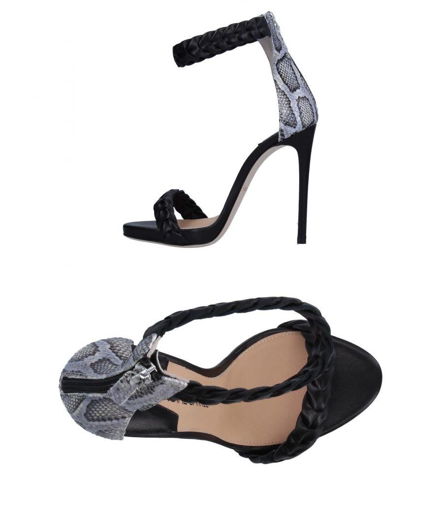 Image for Racine Carree Black Leather Heels