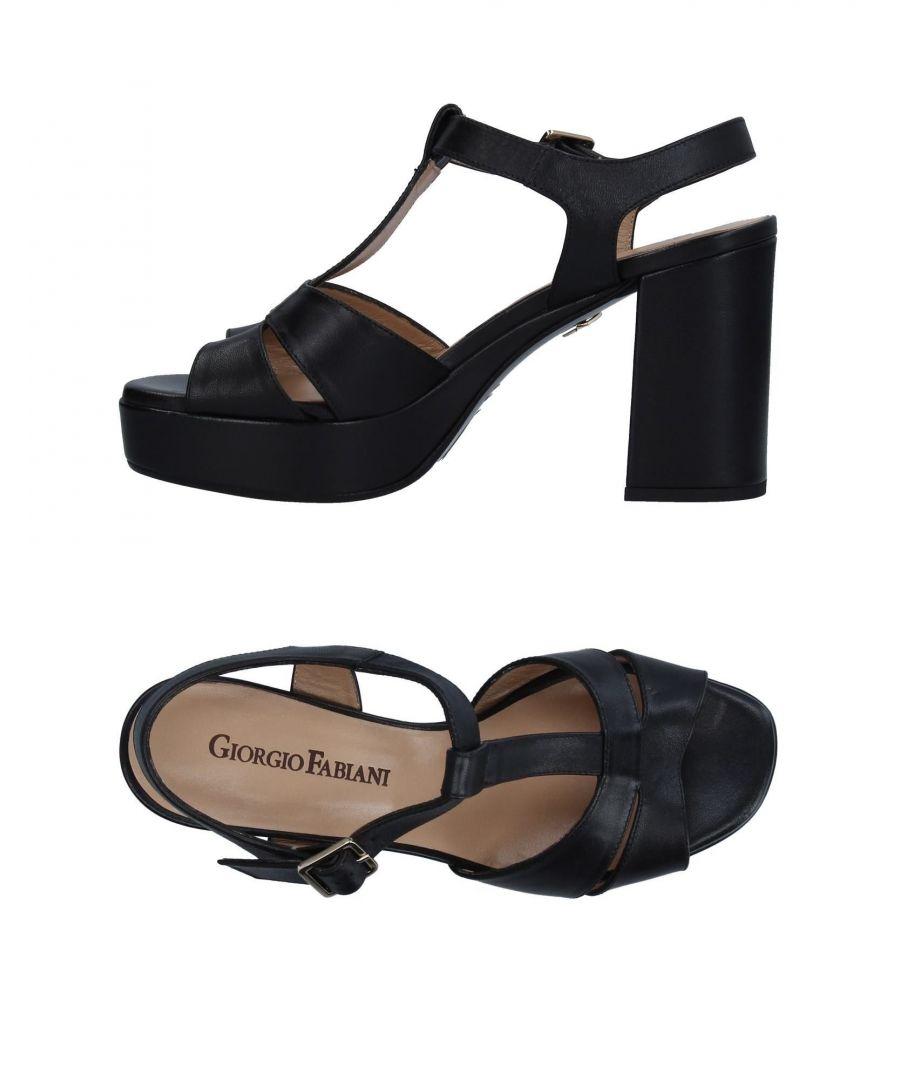 Image for Giorgio Fabiani Black Leather Heeled Sandals