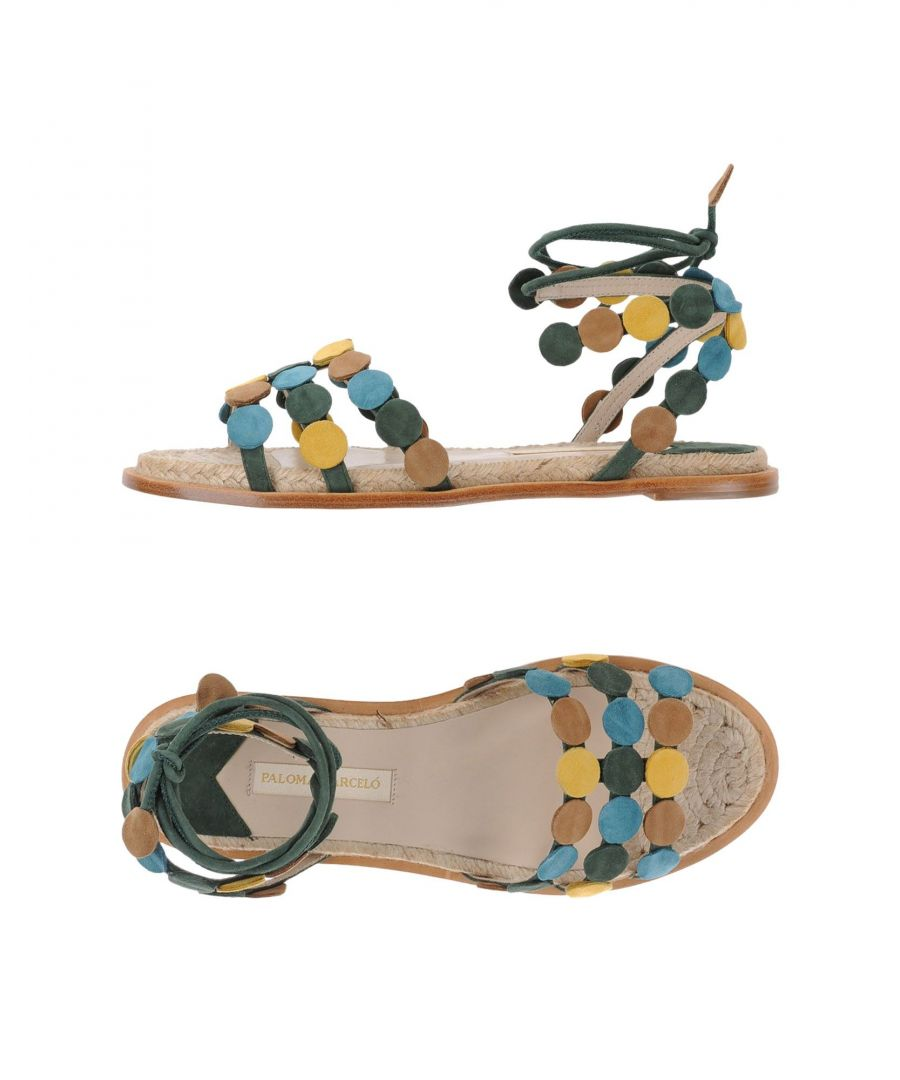 Image for Paloma Barcelo Green Leather Sandals