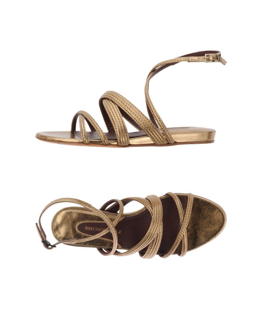 Image for Bruno Magli Platinum Leather Sandals