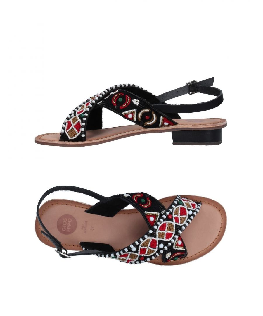 Image for Gioseppo Black Leather Sandals