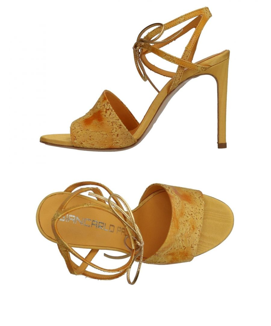 Image for Giancarlo Paoli Yellow Leather Heels