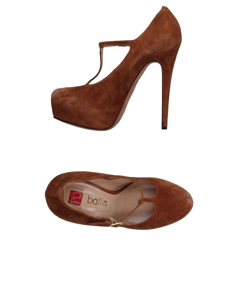Image for Ballin Brown Leather Mary Jane Heels