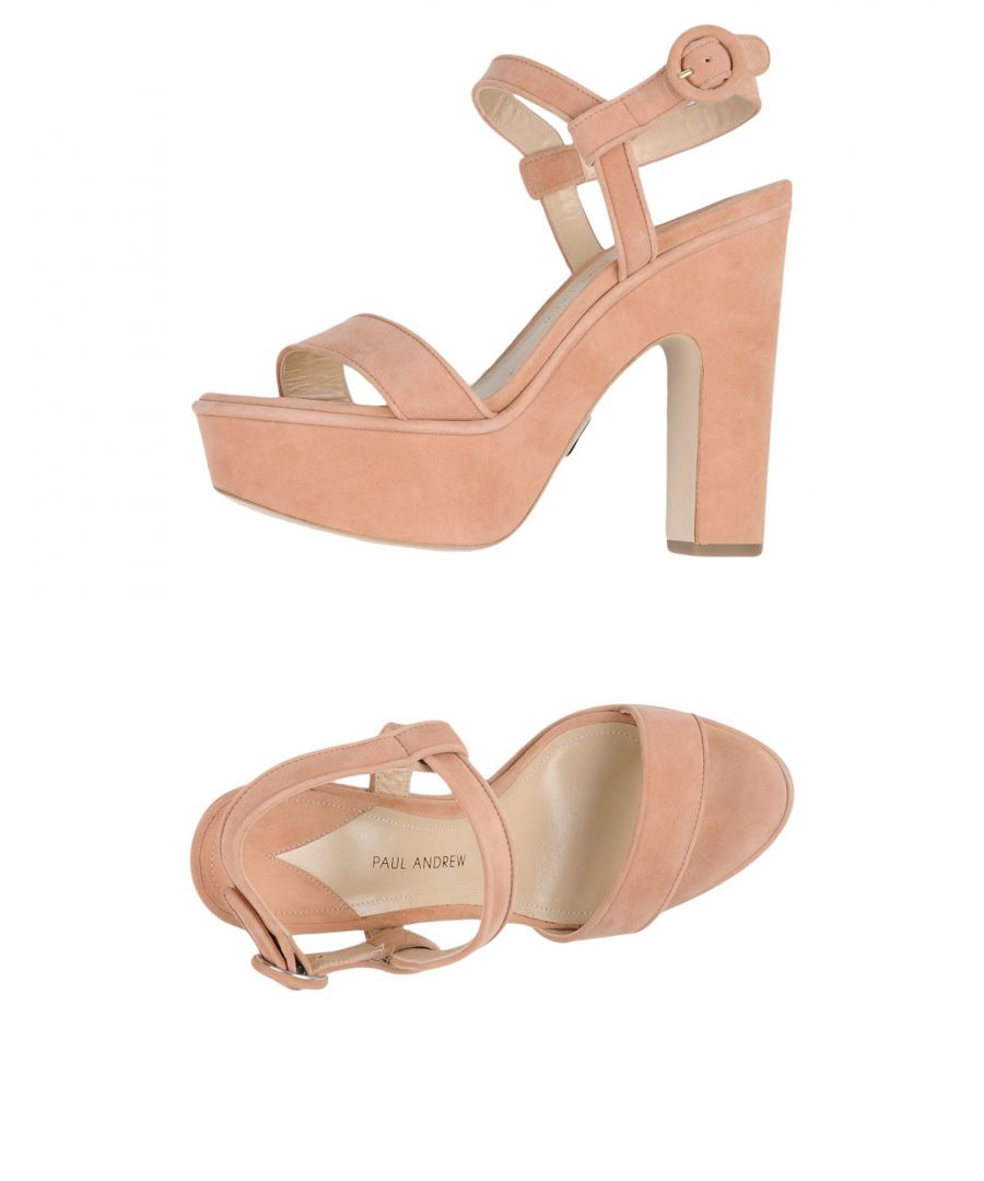 Image for Paul Andrew Pale Pink Leather Heeled Sandals