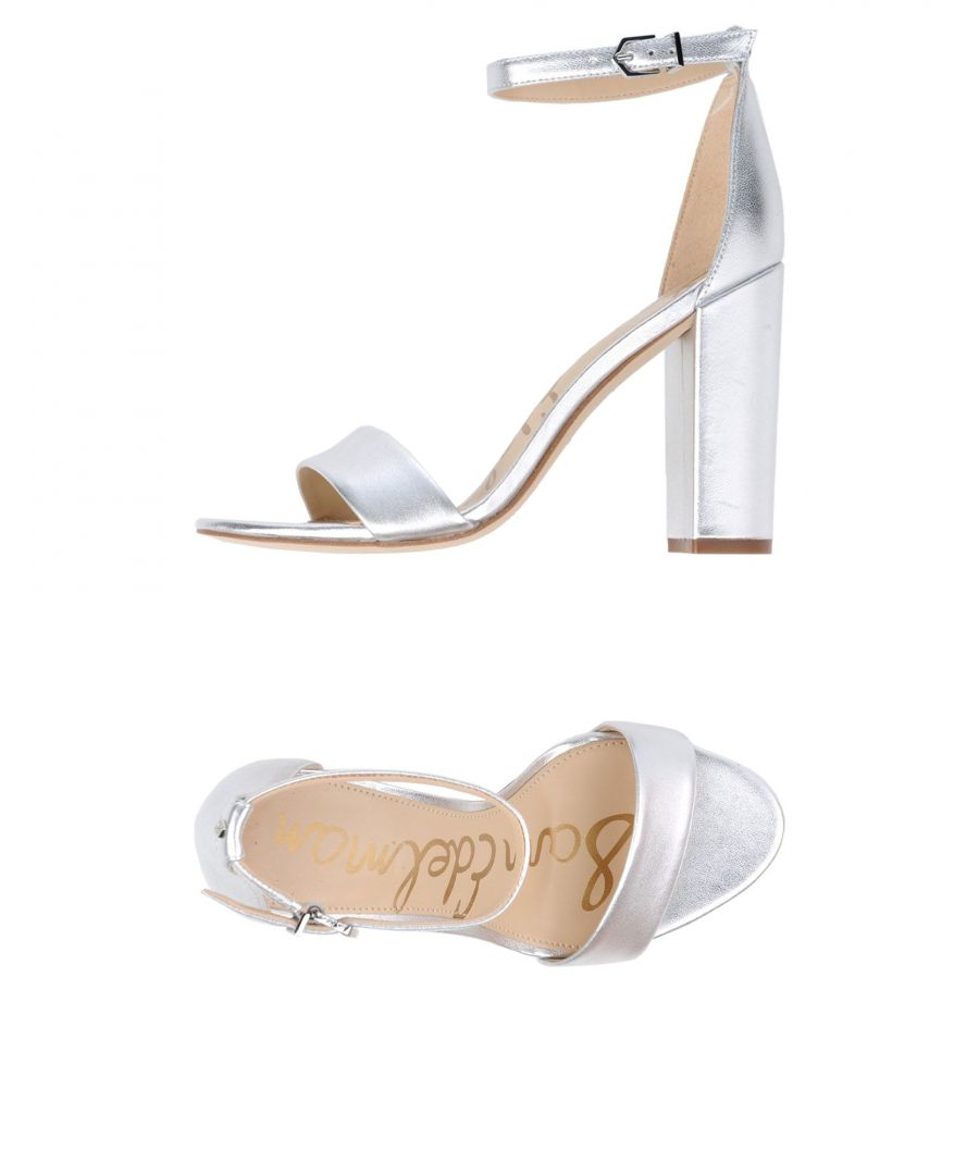 Image for Sam Edelman Silver Leather Heeled Sandals