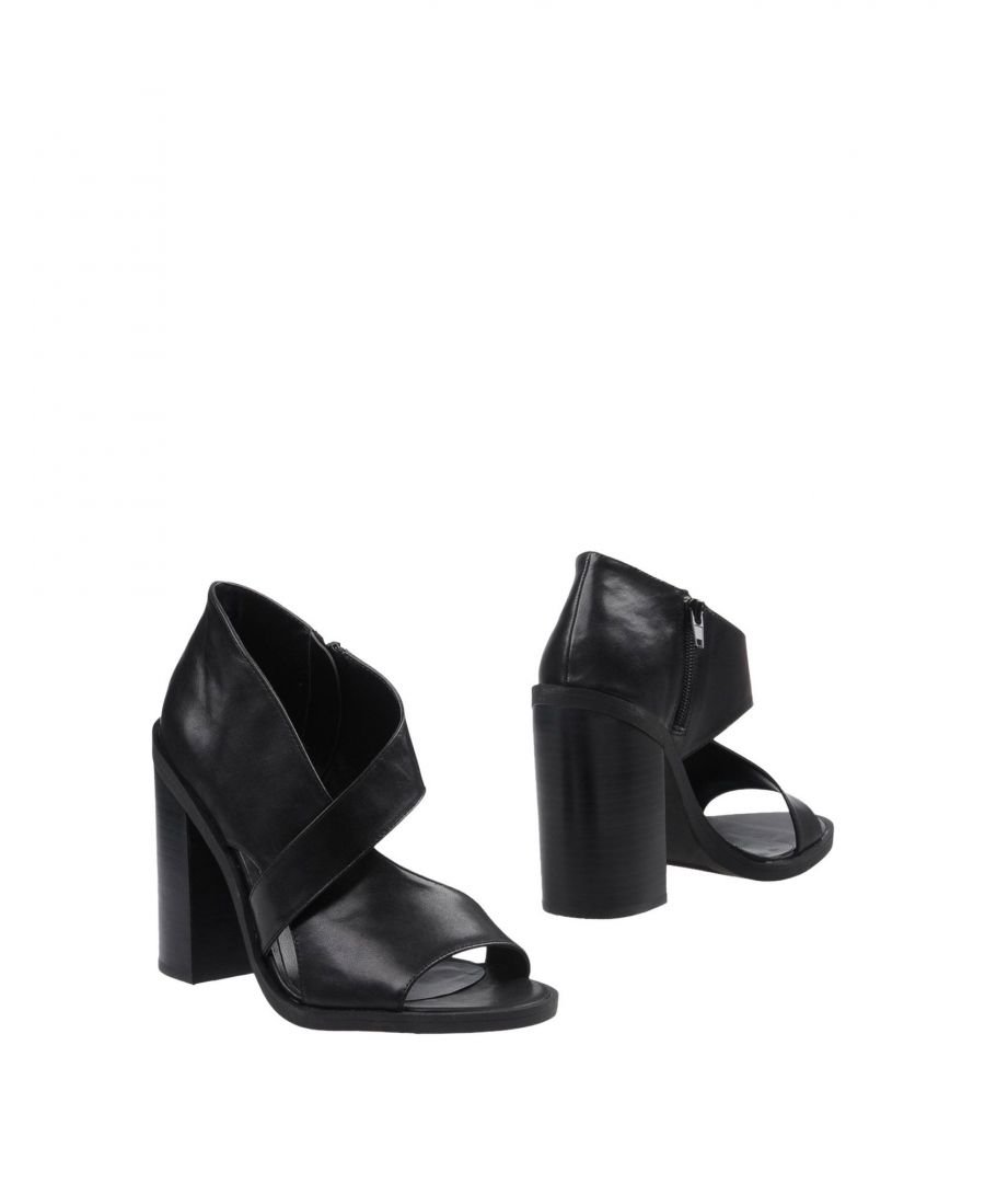 Image for Windsor Smith Black Leather Cut Out Heels