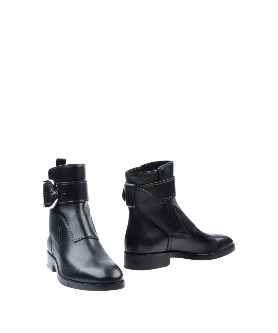 Image for Alexander Wang Black Leather Ankle Boots