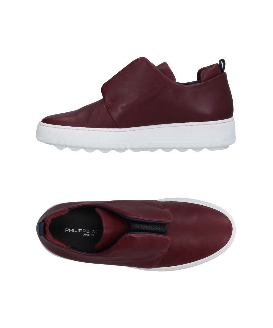 Image for Philippe Model Maroon Calf Leather Sneakers