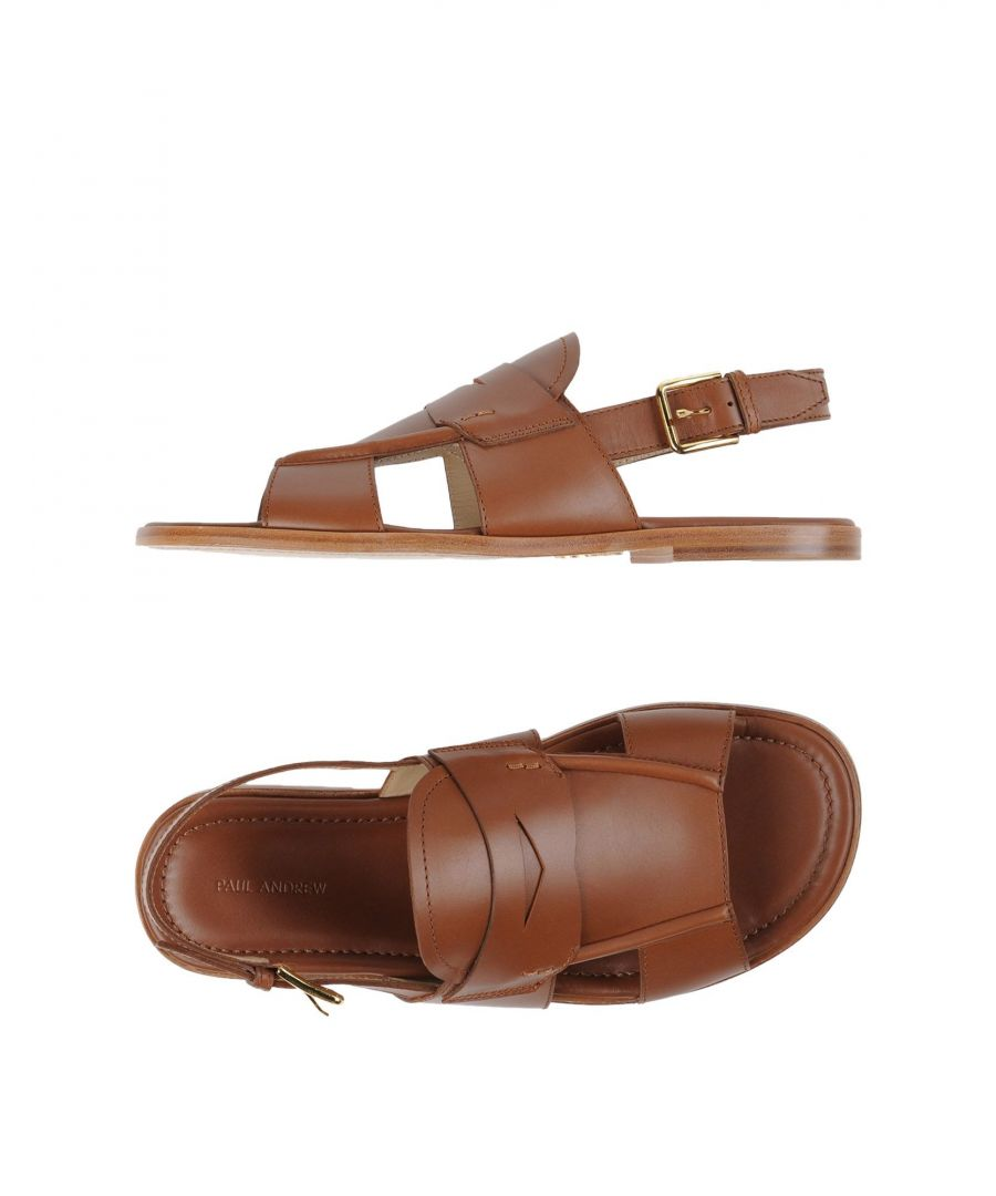 Image for Paul Andrew Khaki Calf Leather Sandals