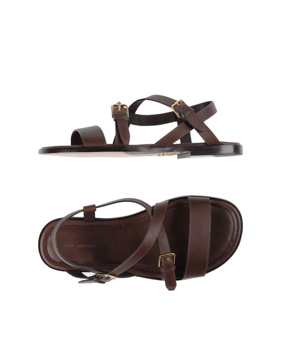 Image for Paul Andrew Dark Brown Calf Leather Sandals