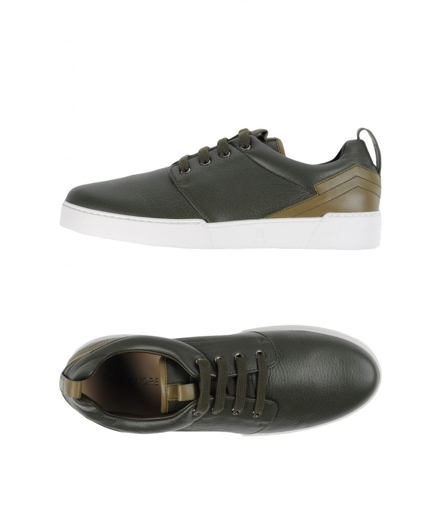 Image for Paul Andrew Dark Green Leather Sneakers