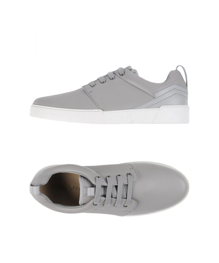 Image for Paul Andrew Grey Textured Leather Sneakers