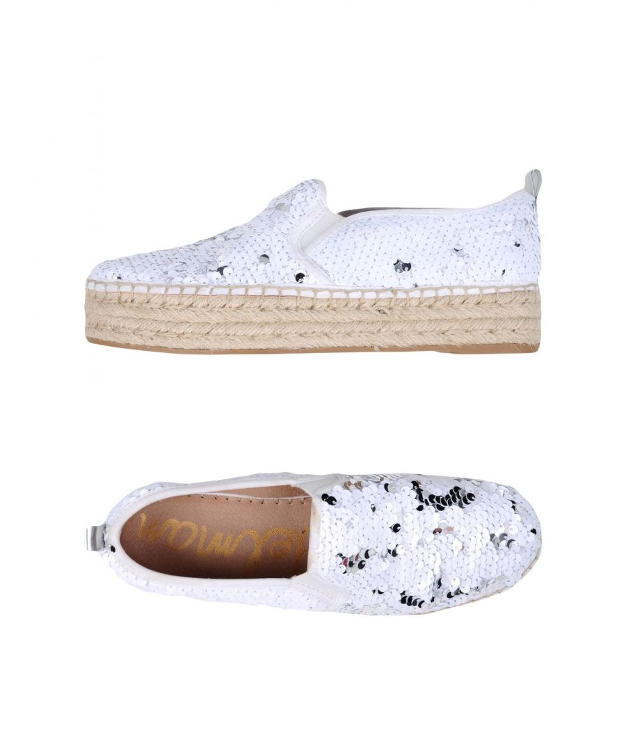 Image for Sam Edelman White Sequinned Flatform Espadrilles