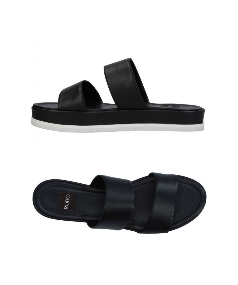 Image for Rodo Black Calf Leather Sandals