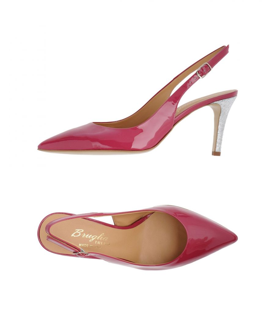 Image for Bruglia Fuchsia Leather Slingbacks