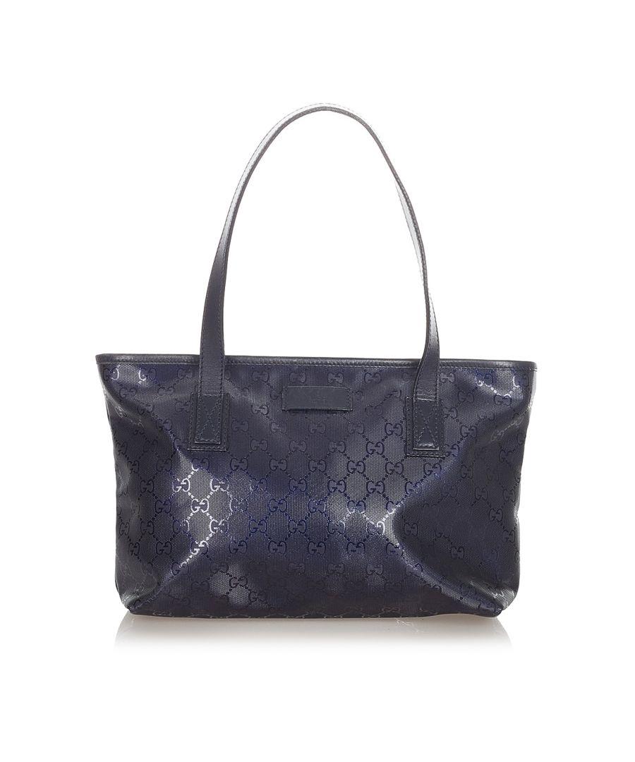 Image for Vintage Gucci GG Imprime Handbag Blue