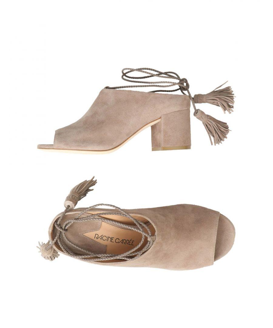 Image for Racine Carrée Dove Grey Leather Heels