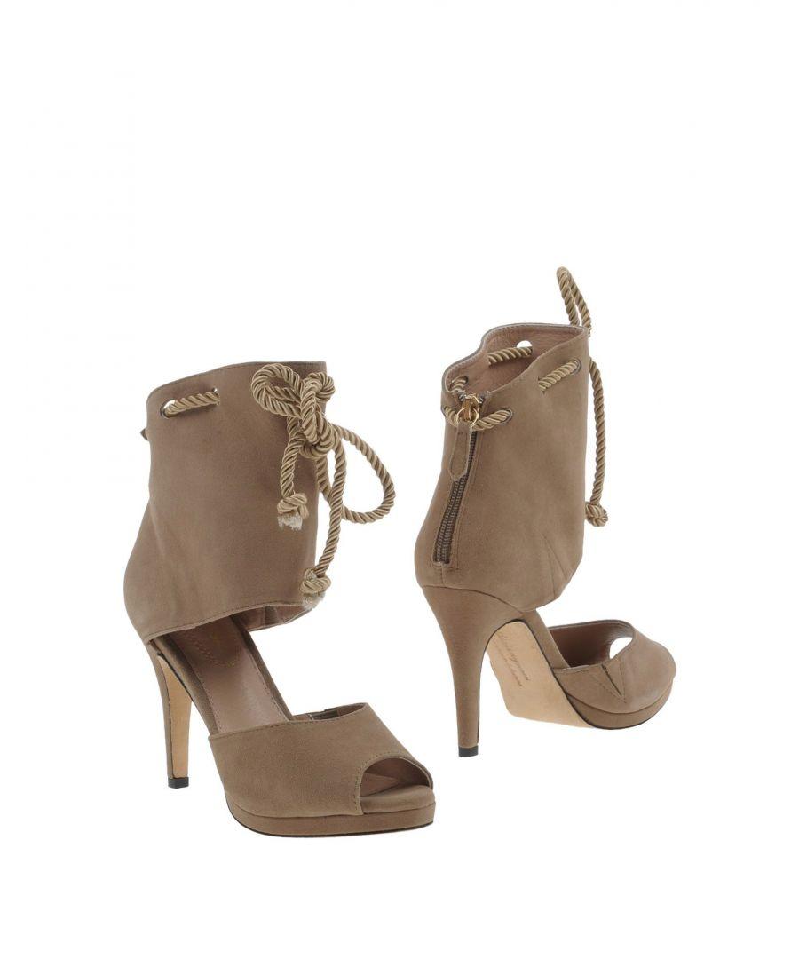 Image for Sargossa Khaki Leather Heels