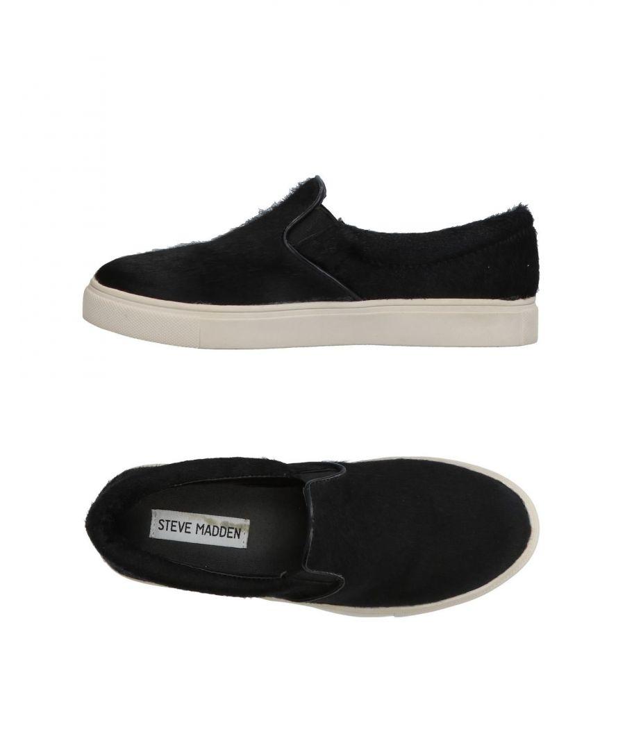 Image for Steve Madden Black Leather Slip Ons