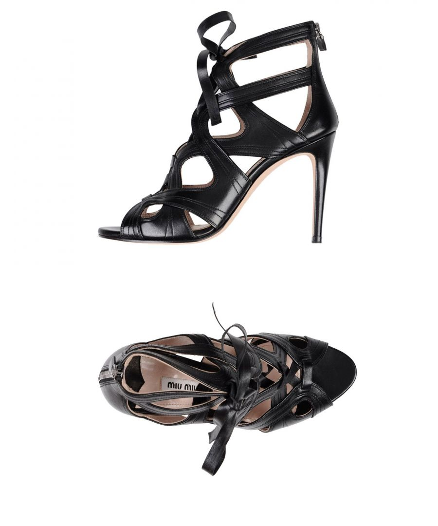 Image for Miu Miu Black Leather Heeled Sandals
