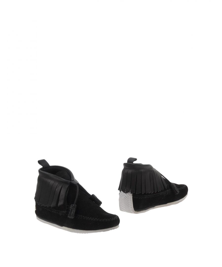 Image for Rag & Bone Black Leather Tassel Ankle Boots