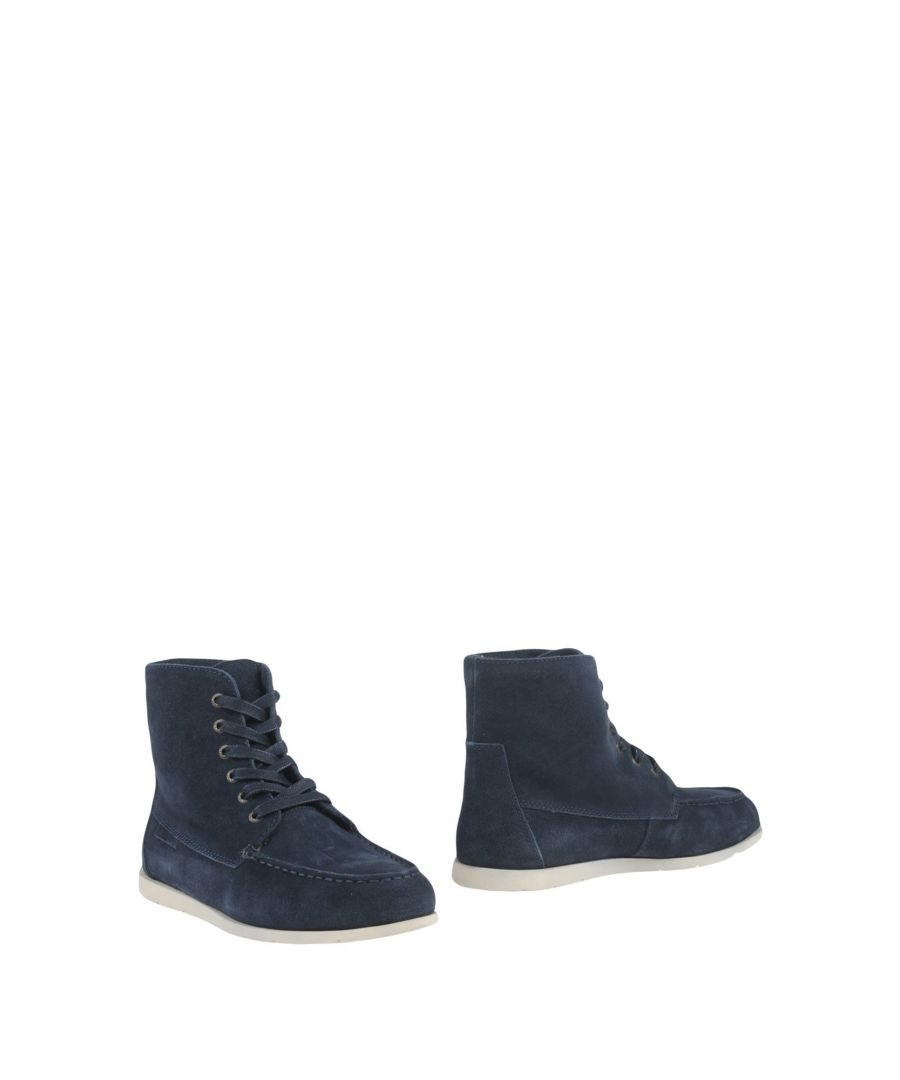 Image for Superga Dark Blue Leather Boots